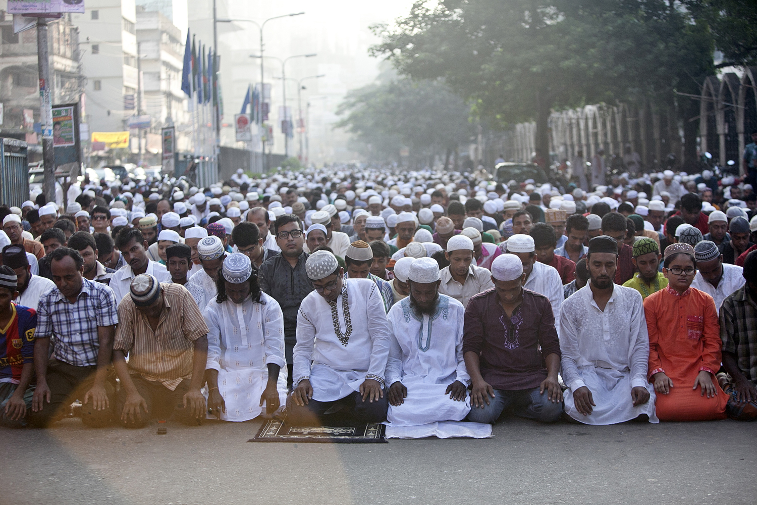 Bangladeshi Muslimes Gather For Eid Al-Adha Celebrations